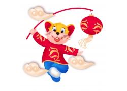挥舞灯笼的小老鼠