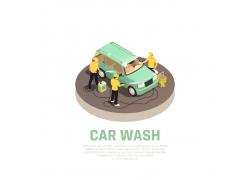 洗车和汽车工