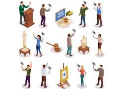 现代简约在线在网上竞拍3D模拟场景设计图
