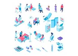 现代简约妇科医院3D模拟场景设计图