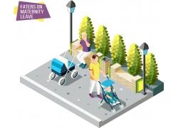 现代简约遛娃3D模拟场景设计图