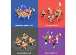 现代简约残疾人生活日常3D模拟场景设计图