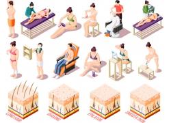 现代简约日晒防�鹬�识普及3D模拟场景解说设计图
