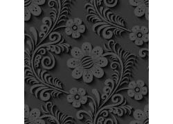 立体植物花朵图案
