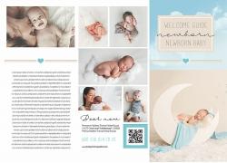 简约现代儿童婴儿摄影画册宣传单页海报设计模板