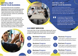 简约现代商务服务行业书籍画册宣传单页海报设计模板