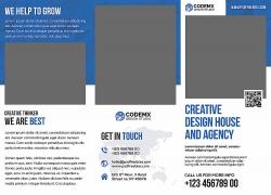 简约现代商务海报宣传单页设计模板