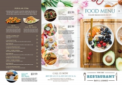 简约现代鲜艳美食海报宣传单页设计模板