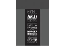 简约大方黑色餐厅菜单食谱设计模板矢量图