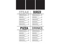 简约黑白色餐厅菜单食谱设计模板矢量图