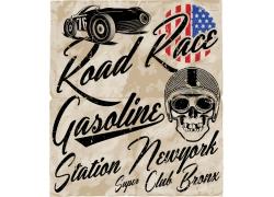 简约复古汽车宣传海报广告矢量图