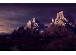 岩石山风景摄影图片
