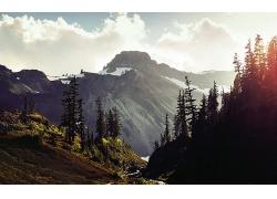 大自然山林風景攝影圖片