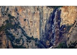 自然山岩石峭壁风景摄影图片