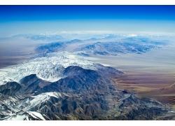 大山山川雪景風景自然攝影圖片