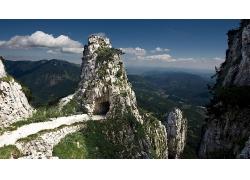 自然大山峭壁风景摄影图片