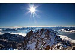 自然岩石山风景摄影图片