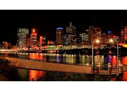 城市夜晚燈火景觀圖片