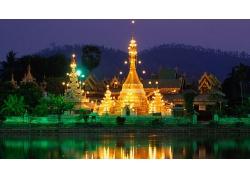 泰國夜晚城市圖片