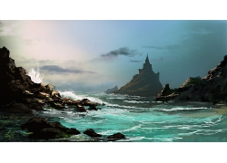 自然岩石山川风景摄影图片