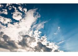 蓝天白云风景景观天空摄影图片