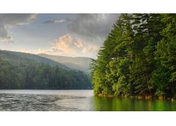 山川河流绿树风光风景景观摄影图片