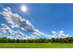 蓝天白云大森林景观风景风光摄影图片