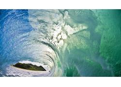 海滩沙滩波浪风景景观风光照片