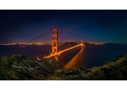 旧金山大桥城市风景图片