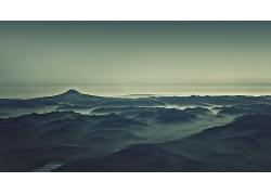 山海云雾风光风景摄影图片