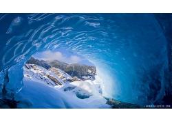 冰洞山洞風景景觀風光照片