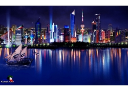 城市大海船風光風景景觀照片