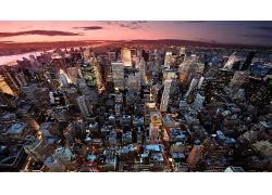 紐約市城市建筑鳥瞰圖風景風光景觀照片