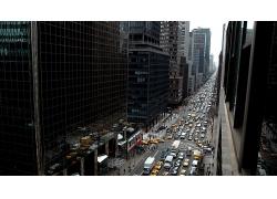 纽约市城市建筑汽车马路街道风景风光景观照片
