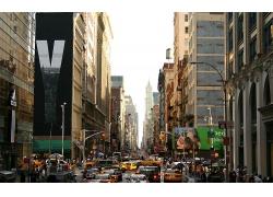 纽约市城市建筑汽车马路风景风光景观照片