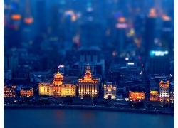 城市建筑市容燈光大河景觀風光風景照片