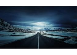 雪山公路冰島