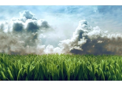 草地天空草原风景风光景观照片