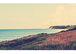 大海草地大山风景风光景观照片