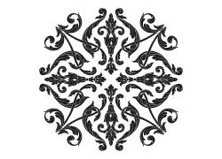 金属质感复古黑色树叶花纹底纹背景树叶花纹单个大图矢量图