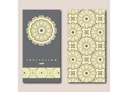 黄色花纹底纹高调商务卡片时尚鲜艳花纹图案邀请函封面内页明信片
