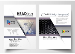 简约时尚大方白色底封面杂志内页照片书内页商务卡片设计矢量图片