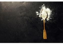 简约食品面粉小麦面粉白色粉末天然美食食品海报背景高清图片