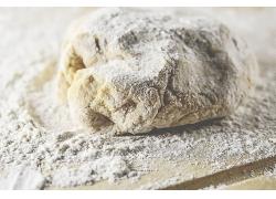 擀面杖面粉揉粉天然美食食品白色粉末海报背景高清图片