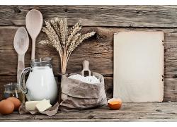 小麦面粉牛奶揉粉天然美食食品白色粉末海报背景高清图片