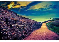 优美美丽滨海路石头路景观美丽风景高清图片