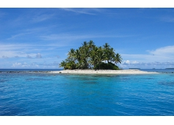 优美美丽海滩沙滩小岛海水美景高清图片