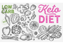 黑白色线描感蔬菜海报广告素材背景高清矢量图