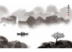 中國風山水水墨畫報