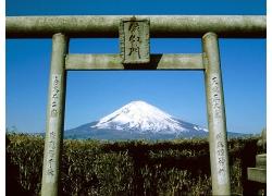 美麗旅游景區日本富士山景區門景觀美景高清圖片